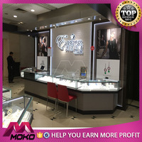 Hot sale jewellery shop showroom/counter furniture design