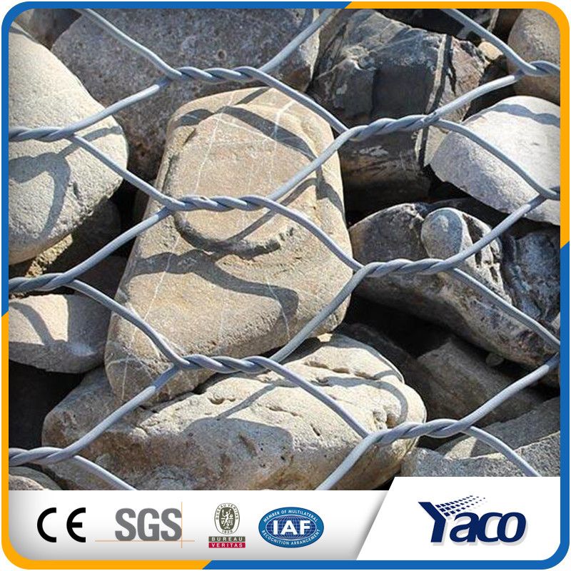 2.7mm Galvanized gabion basket galvanized gabion anping hexagonal mesh
