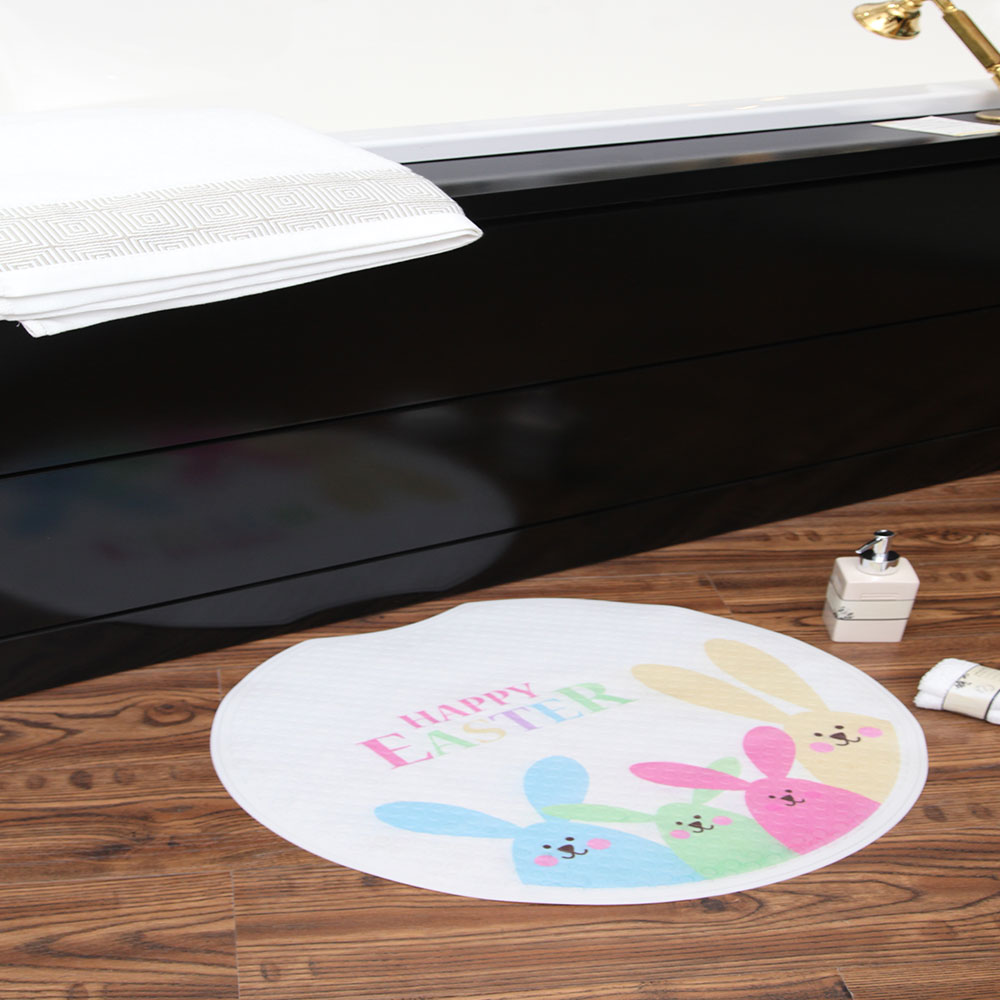 Kids cartoon children's bear mat printing TPE bathroom flooring mat