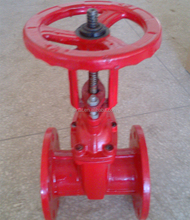 "Fire fighting OS&Y 4"" Red Gate Valve"