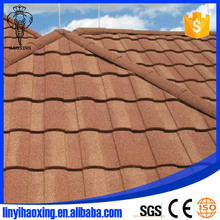 Popular stone coated metal roman roofing tile/rainbow tile with high quality