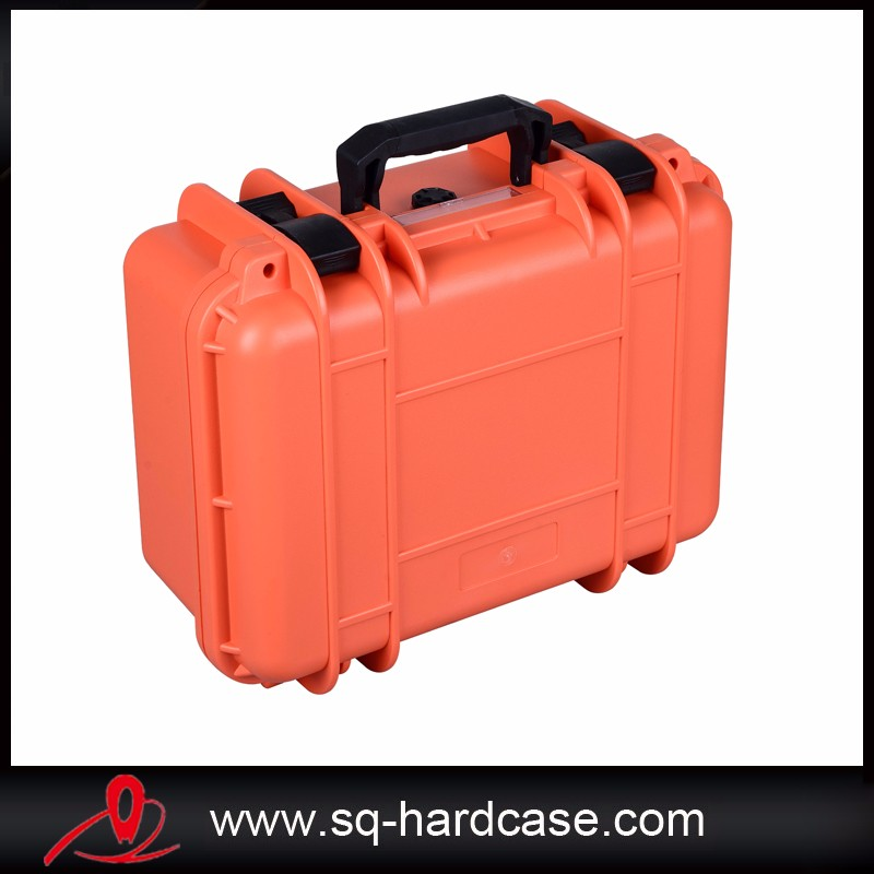 Black shockproof plastic hard case for valuable equipment with special locks