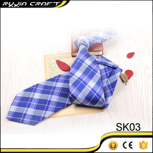 High Quality Polyester Customize Own Logo Plaid Necktie WIth cheap Price