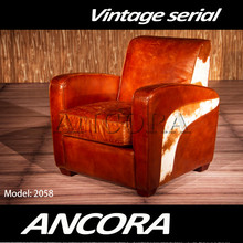 Antique armchair single seat leather sofa AN-2052