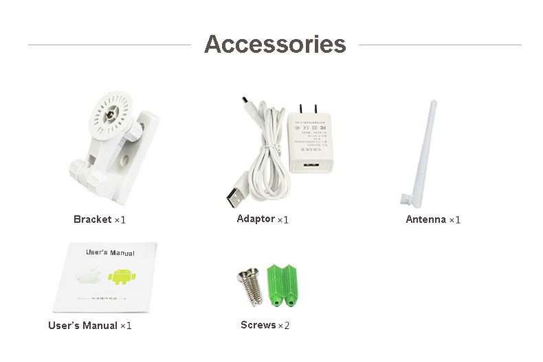Pan and Tilt 720P IR-CUT Home Security P2P wifi IP network camera
