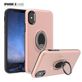 For iPhone X Case, Case With Ring Holder Kickstand, 360 Adjustable Ring Grip Stand Compatible with Magnetic Car Mount