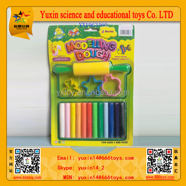 2015 Best Selling Art Making Kids Plasticine Modeling Clay