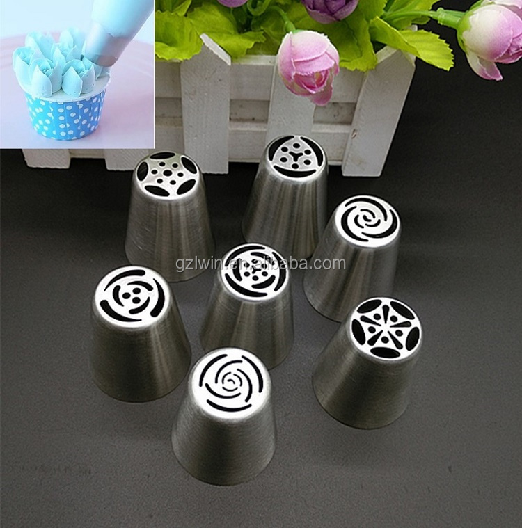 7 pcs 304 stainless steel Russian baking tools cake decorating / baking supplies