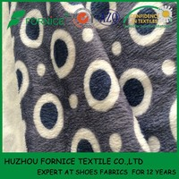 China manufacturer 2.5mm polyester super soft flannel fabric for baby