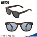 Wood sunglasses with custom logo engrave laser free zebra wood and polarized lentes