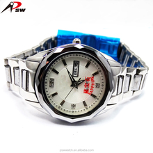 Auot date men women luxury stainless steel dress watches for wedding gift