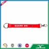 Wholesale key chain short red elastic coil lanyard
