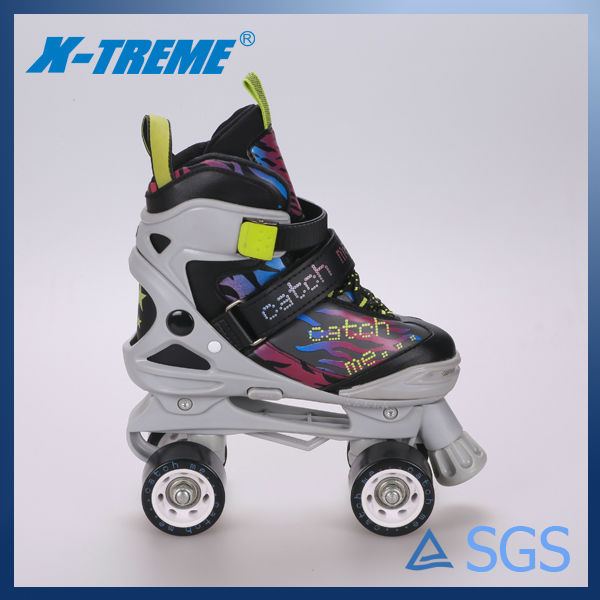 wholesale cheap and new china shoes mesh lining 4 pvc aggressive quad skates shoes