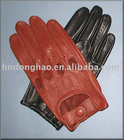 summer driving leather gloves