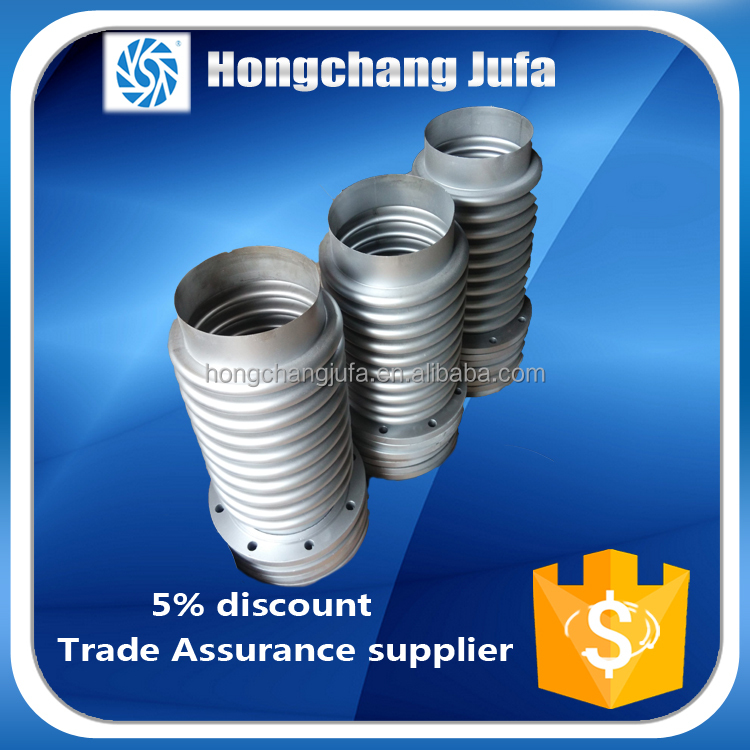 PN16 concrete material metal weld bushing duct expansion bellows