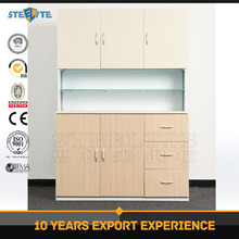 2017 new style customizable kitchen & cabinet glass door cupboard/stainless steel commercial kitchen cabinet
