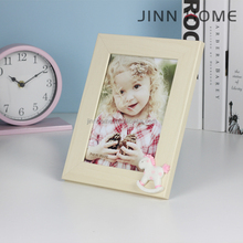 Jinnhome good quality beautiful boy and girl photo frame 7 inch cheap wood photo frame for wall and table top display