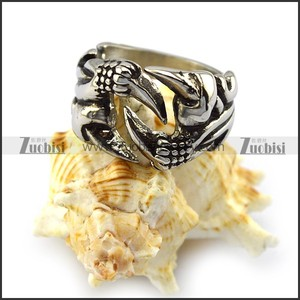 New Arrival Silver Fine Engraved Hollow Interlocked Vigorous Animal Claw Finger Ring