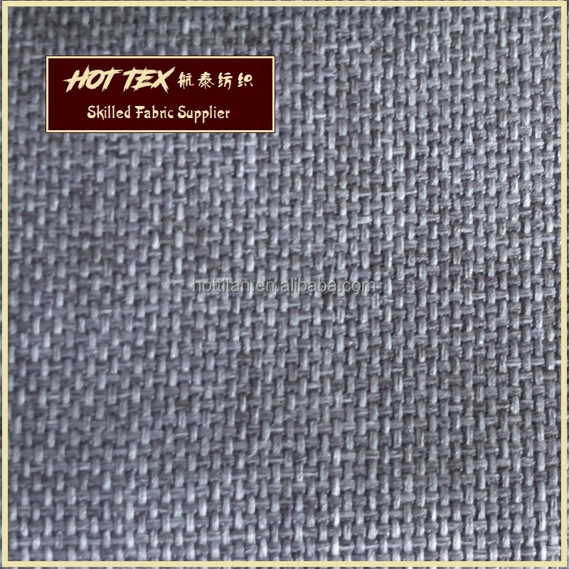 China Supplier 100% Bonded Polyester Design Plain Woven Sofa Fabrics Material