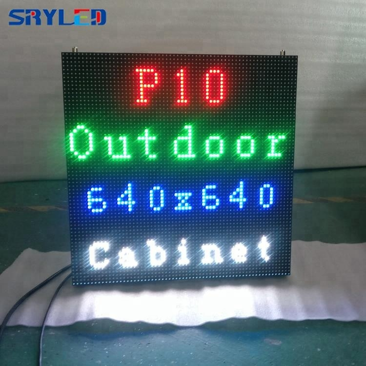 Promotional outdoor led screen <strong>p10</strong> led die casting aluminum cabinet wholesales