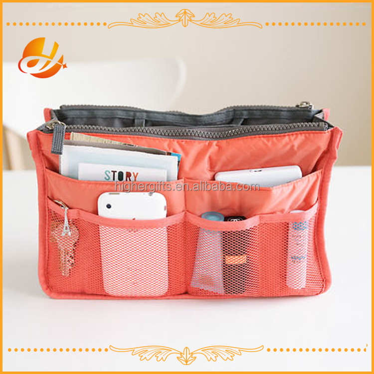 Purse Organizer,Insert Handbag Organizer bag Nylon Bag in Bag