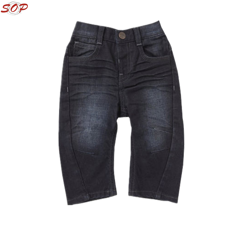 Casual wear loose style boutiques children trousers boys fashion kids jeans