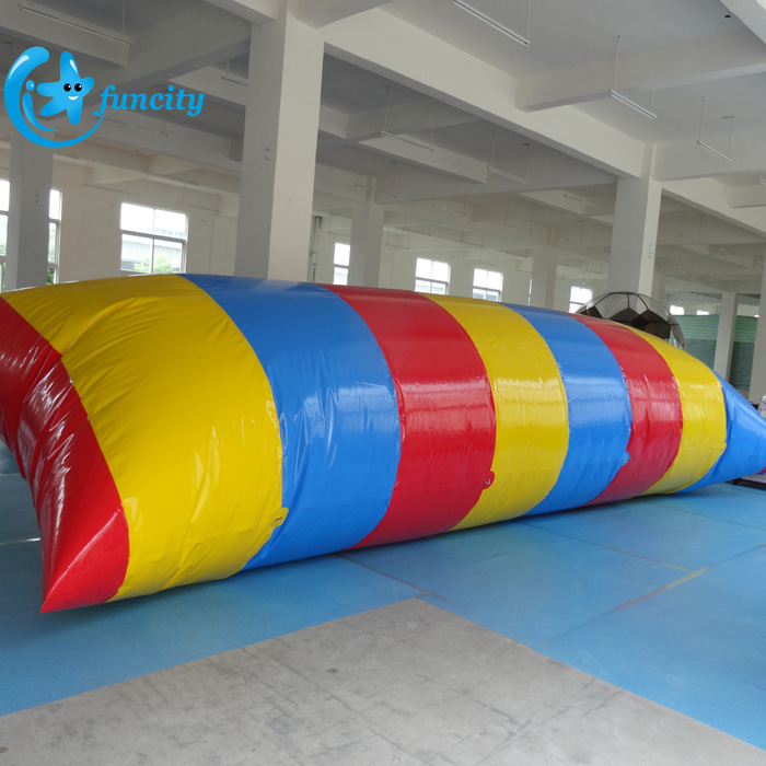 8*3m Seashore Water Blob Jumpping Bag, Inflatable Water Blob, Water Catapult Blob Jump For Water Games