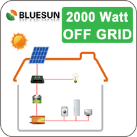 Bluesun easy installed residential use 2kw off grid solar system shenzhen