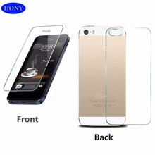 Hony Front&Back Screen for Iphone 4 4s 5 5s Tempered Glass Protector