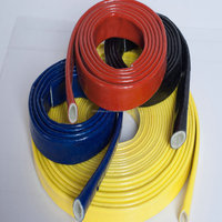 Flame Retardant Braided Fiberglass Fire Sleeve