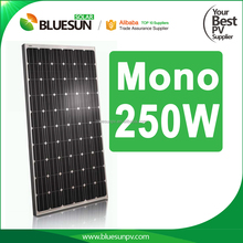 Bluesun best effeciency mono 250W solar panel pallets for sale