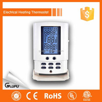 GP0816 White color digital programmable touch screen floor heating thermostat