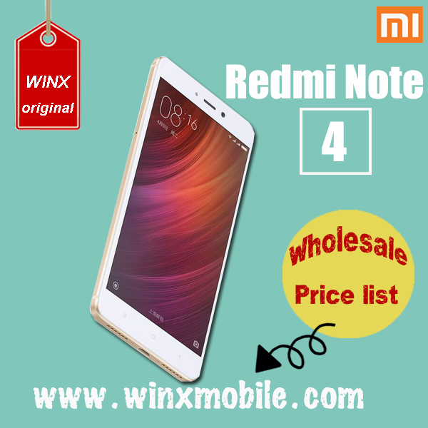 "5.5"" Xiaomi Redmi note 4 smartphone 4g android RAM 3GB ROM 64GB Snapdrapgon 820 Deca Core china 2016 new products"
