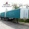 4-Axles Super-Link Boxes Caravan Trailer/Interlink Curtain Side Enclosed Cargo Semi Trailer