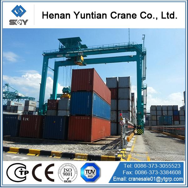 Rubber Tire Container Gantry Cranes /gantry Crane Design Drawing ...