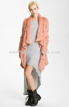 Knit Rabbit Fur Long Sleeve Coat New Release Lapin Fur Coat Quality Supplier/OEM/ODM STY.NO. 3130#
