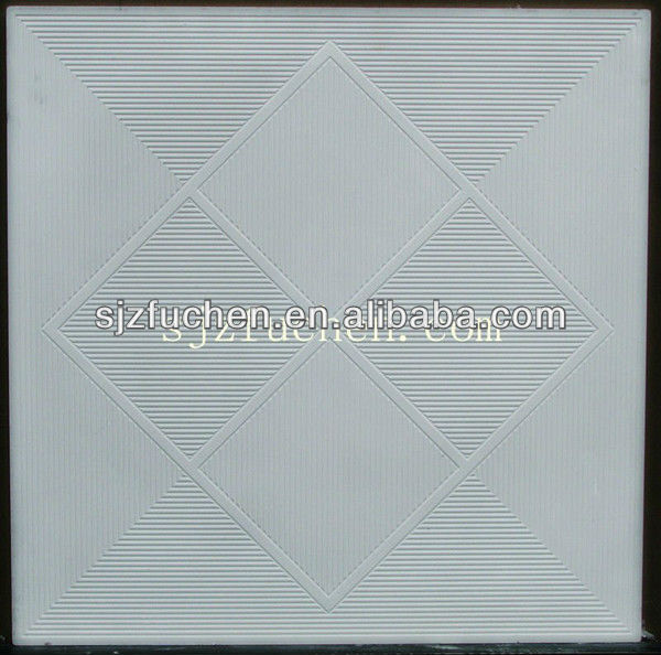 Rubber mould for making gypsum ceiling board