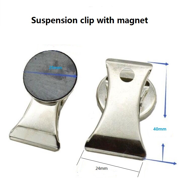 Refrigerator Magnet Clips Magnetic Hook Clips Photo Fridge Magnets for House and Office Use Silver