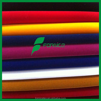 China factory Nylon Flocked tricot fabric zeer velvet fabric