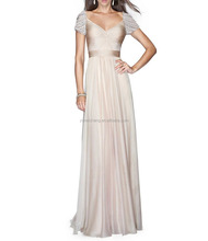 Wholesale light pink wedding gown and evening dress fashionable women dress
