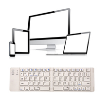 Mini Aluminum Wireless 3.0 Version Bluetooth Keyboard folding mechanical keyboard With Stand Keypad For iPad Mini