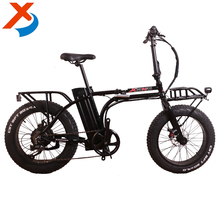 "Factory selling 350W 20 "" fat tire food cargo electric folding fat mini electric bike 2017 with pizza box for food delivery"