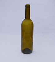 amber glass 750ML red wine glass bottle