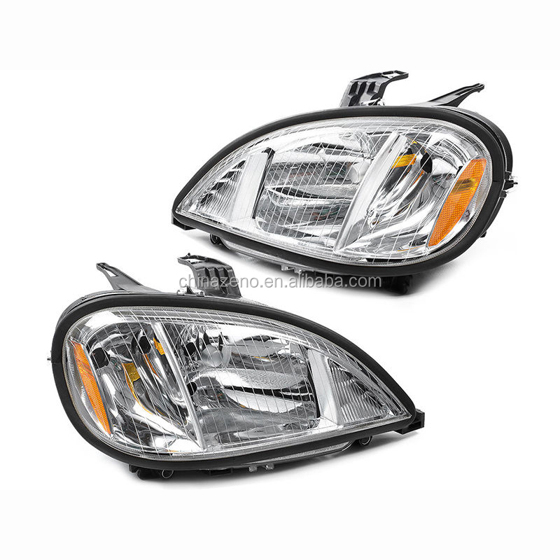 Headlight Lamp Driver Passenger Side 04 - 11 Crystal for FreightLiner Columbia