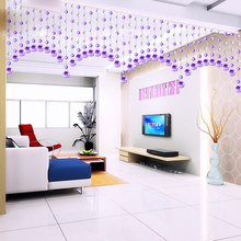 Bead crystal partition restaurant half hanging bedroom door porch without perforation curtain