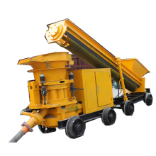 rotor dry shotcrete machine for coal mine