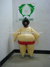 HI CE yellow giant Sumo inflatable moving cartoon