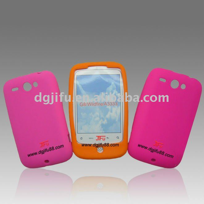 fashion design silicone material fits for HTC G8 Wildfire A3333 case
