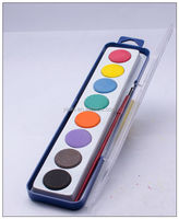 8 Color High Quality Watercolor Painting Set With Brush