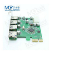 USB 3.0 4-Port PCI-Express Adapter Controller Card with Molex 4pin Connector